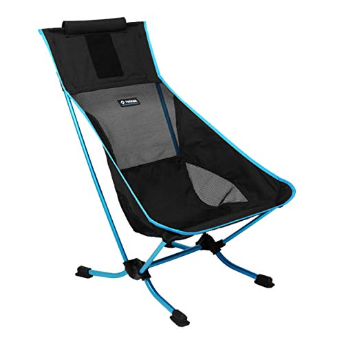 Helinox Beach Chair Lightweight, Lower-Profile, Compact, Collapsible Camping Chair, Black