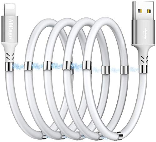 Magnetic Charging Cable,(3FT) Super Organized Charging Magnetic Absorption Nano Data Cable for Phone 11/XS/XS Max/XR/X/8/8 Plus/7/7 Plus/6s/6s Plus/6/6 Plus/SE/5s/5c/5/Pad/Pod
