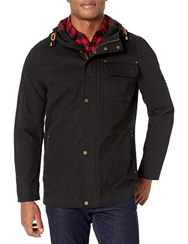 Pendleton Outerwear Men's Cascade Big Sky Canvas W/DWR Finish Hooded Jacket, Black, XL