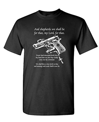 Boondock Prayer - Cult Classic Movie Guns - Mens Cotton T-Shirt, XL, Black