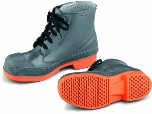 ONGUARD 87981 PVC/Nitrile Sureflex Men's Steel Toe WorkShoe with Saftey-Loc Outsole, Grey/Orange, Size 7