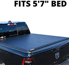 LEER ROLLITUP 2019+ Dodge Ram 1500, with 5.7' Bed | Soft Roll Up Truck Bed Tonneau Cover | 4R298 | Low-Profile, Sturdy, Easy 15-Minute Install (Black)