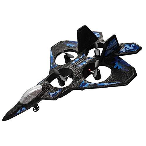 XLNB Aereo Rc Velivolo Ad Ala Fissa Modello UAV Elettrico, Giocattolo Fantasma in Schiuma da Combattimento con Telecomando,Blu