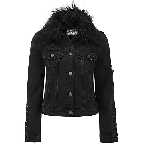 Killstar Denim Biker Jacke - Dark Daze (XXL)