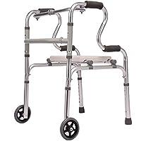 LTZ Andador Ancianos con Asiento, Ayudas para Caminar Asistidas En 4 Ruedas Plegables para Personas Mayores con Discapacidades, Reposabrazos para Entrenamiento de Rehabilitación