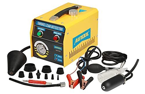 GOGOLO AUTOOL SDT-205 bil-EVAP-system-testare detektor bil rör-läckagelocator, bil 12 V bränsle läckagedetektor med EVAP-adaptrar för alla fordon – 3 års garanti