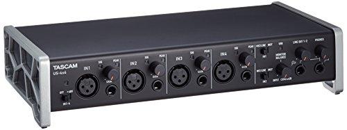 TASCAM US-4x4 - 4 Eingang und 4 Ausgang USB-Midi-Audio-Interface-Karte, Schwarz