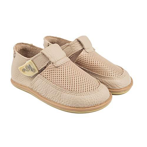 Magical Shoes Kinderschuhe | Barfußschuhe | Lederschuhe für Mädchen & Jungen | Minimalschuhe | Sandalen | Hausschuhe | atmungsaktiv | Laufschuhe | Outdoor | 20 / 130mm, | 006. Bebe - Beige