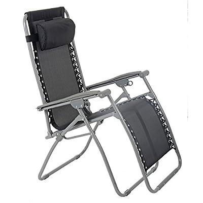 Azuma Zero Gravity Padded Garden Reclining Relaxer Lounge Lounger Chair In Dark Red by XS-Stock.com Ltd