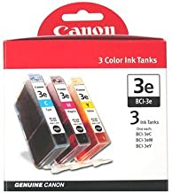 Canon BCI-3e Color Ink Tank for the BC-31e InkJet Cartridge - 3 Pack Cyan/Magenta/Yellow-4480A263