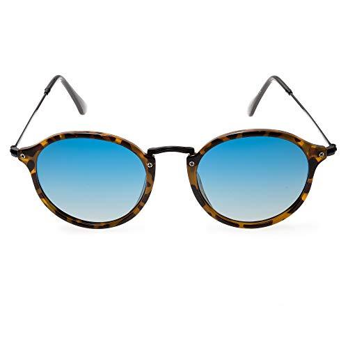Contacta Dakar Sole Demi Lente Blu – Occhiale da Sole con Lenti Polarizzate - Lente Verde Blu Marrone - Uomo Donna - Sacchetto Porta Occhiali in Microfibra - 20 g