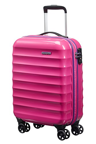 American Tourister Palm Valley Spinner 55/20, Bagaglio a mano, Litri 32, Pink Sparkle