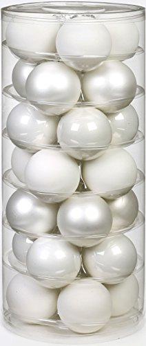 Inge Glas 15112D002 Kugel 45 mm, 28-Stück/Dose, Just white Mix(weiss,porzellanweiss)