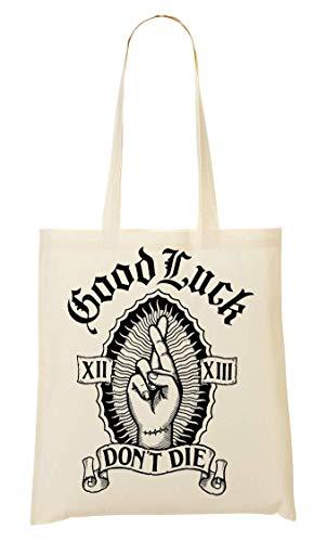 Good Luck Don't Die Artwork Tragetasche Einkaufstasche