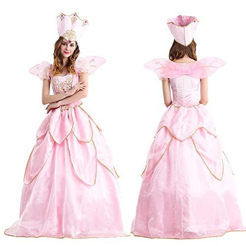 HJG Disfraz de hadas de flores para mujer, disfraz de princesa de Elfo del Bosque para Halloween, Navidad, M