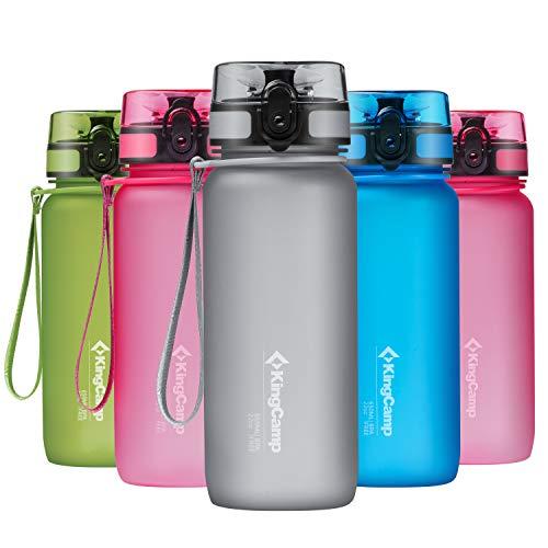 KingCamp Trinkflasche 650ml Tritan BPA-Frei Wasserflasche Auslaufsicher