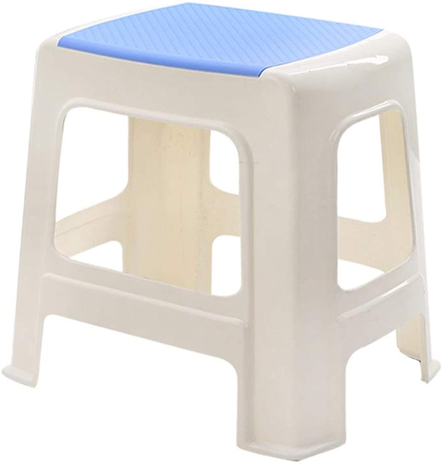 Stackable shoes Bench, Thicken Heightening Plastic Stacking Stool Kitchen Stool Table Stool Student Stool Rest Stool (color   C)