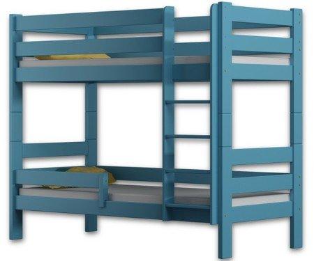 Etagenbett Sophie, mit zwei, Kiefer Holz Bett 160x 80, holz, blau, 160x80