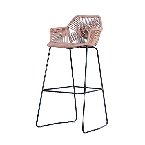 C-K-P Barhocker modernen minimalistischen Esszimmer Stuhl Metall gewebt Korbstuhl Küche Frühstück Esszimmer Stuhl Lounge Stuhl Rückenlehne