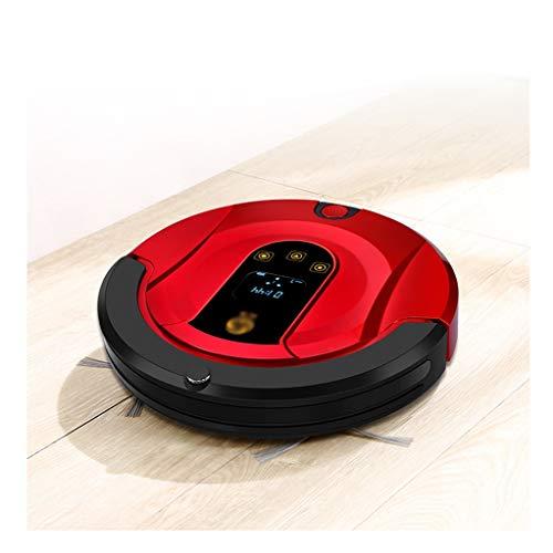 HJQFSJ Robot aspirapolvere Professionale Ricarica Automatica, 55DB Silenzioso,100Min Standby, AntiCaduta per Pavimenti Duri, Piastrelle (Color : Red)