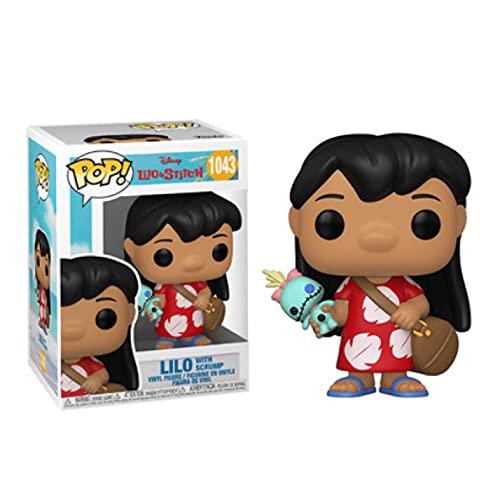 Funko Pop Vinl Anime Movie Figuras Lilo & Stitch Dolls #1043 Lilo 10 cm Versión Kawaii Q Muñeca Acción Figura Toys Modelo en Caja Decoración de Habitación Regalo para