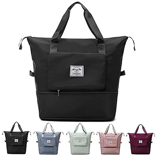 Large Capacity Folding Travel Bag, Waterproof Large Capacity Foldable Storage Bag Handbag, Foldable Duffle Bag For Travel