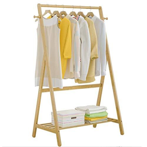 Zcyg - Perchero de bambú para Ropa con estantes 2 Ganchos, para Zapatos, Sombreros y Bufandas, en el Pasillo, Sala de Estar, habitación de Invitados, bambú, 80 * 55 * 150cm