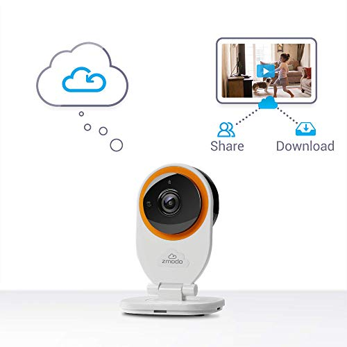 Zmodo EZCam 720p HD IP Camera, Wi-Fi Home Security Surveillance Camera System with Night Vision, Motion Alert, Remote Monitor, Cloud Service Available - Work with Alexa (2 Pack)