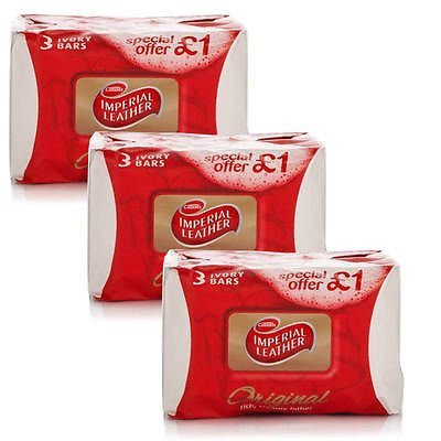 NEW 9x CUSSONS IMPERIAL CUIR SOAP ORIGINAL BAR 100g - MULTIPACK