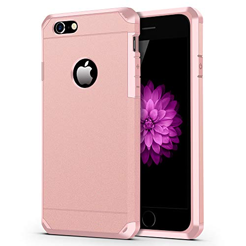 iPhone 6 / 6s Case, ImpactStrong Heavy Duty Dual Layer Protection Cover Heavy Duty Case Designed for iPhone 6 / 6s (Rose Pink)