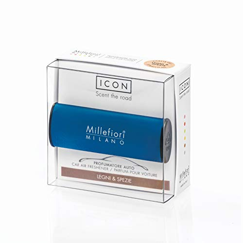 Millefiori Profumo per auto Millefiori ICON colore blu fragranza Legni & spezie