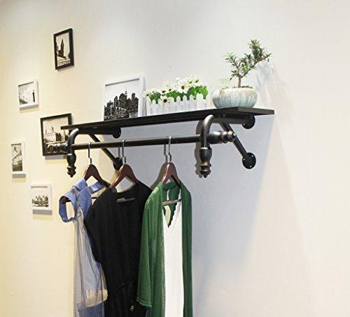NDDDSD Kapstok garderobekast kledingwinkel displays voor heren en dames wandmontage zijdelingse ophangplanken hangrekken planken rekken planken rekken