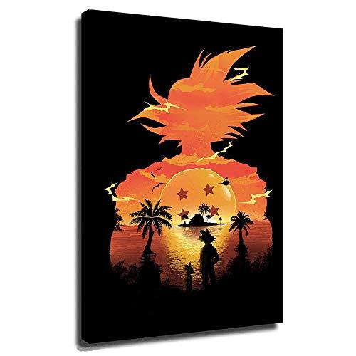 4 Star Dragon Ball Posters Lienzo Mural Cuadros para Sala de Estar Pequeño Goku Lllusion...