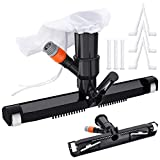 CKE Upgraded Pool Vacuum for Above Ground Pools Vacuum Head Accessories with Bag Brush and EZ Clip Handle 14' Wide Vacuum Cleaner for Above Ground Pool Spas Ponds Jacuzzi Tub Cleaning Supplies