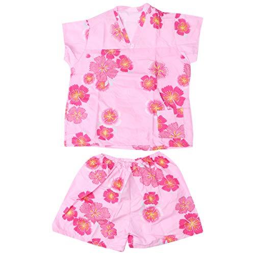 HEALLILY Bata de Baño Desechable Kimono Bata Conjunto de Pijamas Pantalones Cortos Ropa de Salón Vestido de Teñir El Cabello Deshabilitar Trajes para Mujeres Niñas