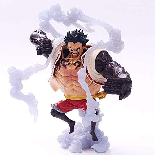 Hermosa Shanping Anime Carácter Estatua Pirate Art King Bouncing Masculino Cuarto de cuatro velocidades Mano en caja, Modelo hecho a mano Regalo de cumpleaños Decoración de escritorio Material de PVC