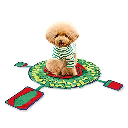 Aiglen Alfombrilla para snuffle para perros, juguetes de rompecabezas para aumentar el coeficiente intelectual, alimentador de dispensación lenta, mascotas, gatos, juegos de entrenamiento para cachorr