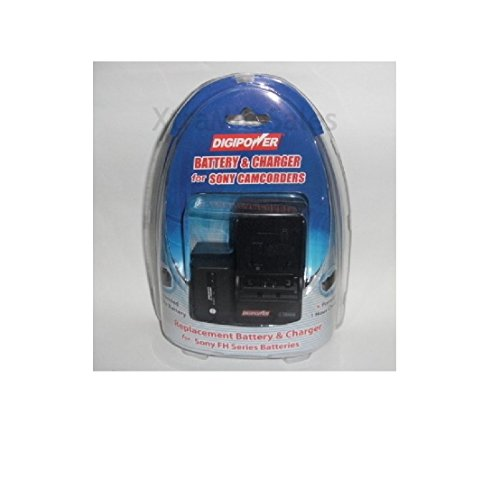 DigiPower Battery & Charger for Sony FH Series Camcorder Batteries