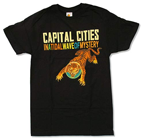 Capital Cities Tiger Black Men T Shirt In A Tidal Wave of Mystery Band