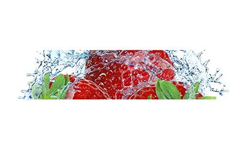 More Design Küchenrückwand-Folie Erdbeere Klebefolie Spritzschutz Küche Fliesenspiegel Möbel Rückwand selbstklebend | mehrere Größen