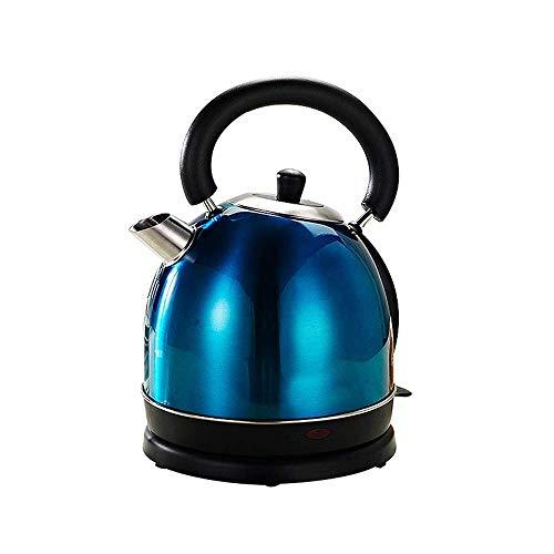 Bouilloire en acier inoxydable de bouilloire chauffée automatiquement Théière avec filtre 5 minutes de chauffage rapide Fermeture automatique du bas amovible de 1,8 litres vert Xping (Color : Blue)