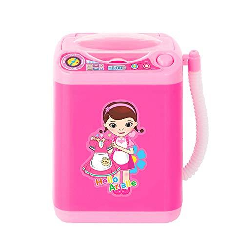 Mini Waschmaschine Make-up Pinsel Reiniger Gerät Automatische Reinigung Waschmaschine Mini Spielzeug Startseite Miniatur Wäsche Spielset Spielzeug Elektrische Kinder Vorgeben Spielen Spielzeug