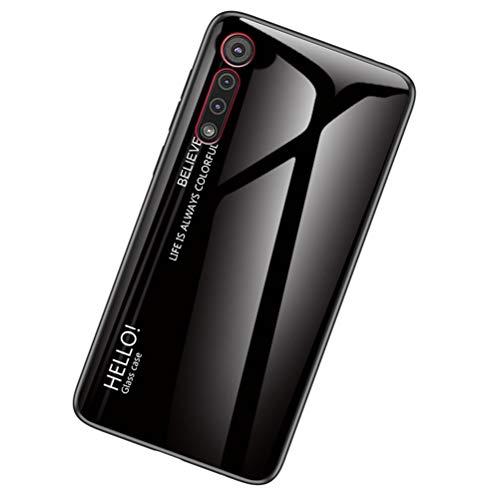 Yoota Funda Motorola Moto G8 Plus, Gradiente Tapa Trasera de Cristal Templado...