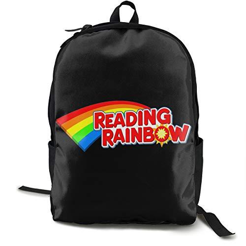Reading Rainbow Rucksack, Daypack Tagesrucksack Für Schule, Arbeit Und Uni, Sportrucksack Und Schultasche Mit Laptopfach Und Rückenpolster