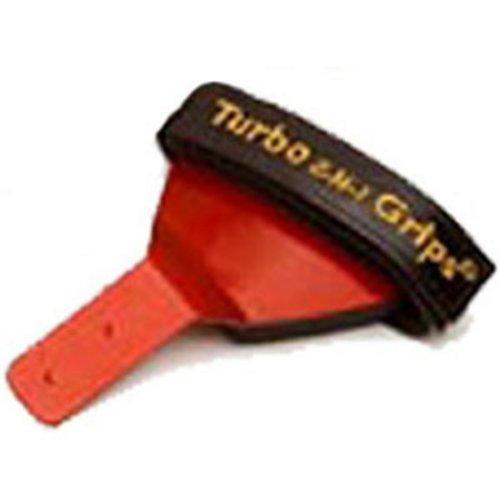 Turbo 2-N-1 Grips Bulldog Handgelenkstütze Rot Vorwärtsbefestigung Rechtshänder, rot, S