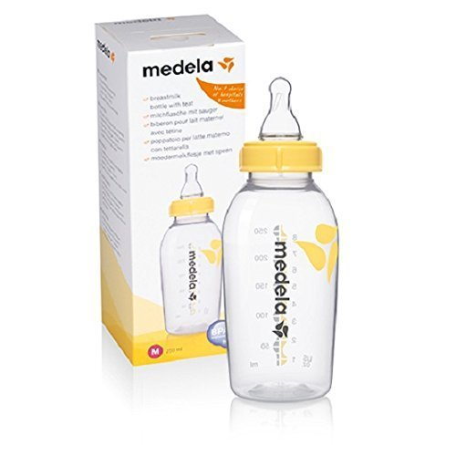 Medela Babyflasche, mit Ersatzsauger M, mittlerer Fluss, 250 ml