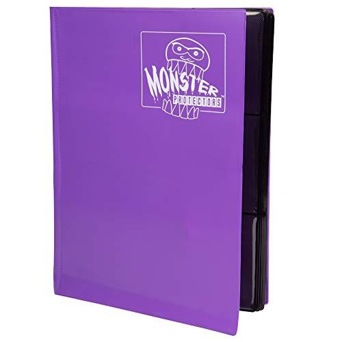 Monster Binder - 9 Pocket Trading Card Album - Matte Purple (Anti-theft Pockets Hold 360+ Yugioh, Pokemon, Magic the Gathering Cards) image