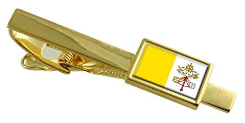 Select Gifts Ciudad del Vaticano la Bandera del Vaticano Clip de Corbata de Oro