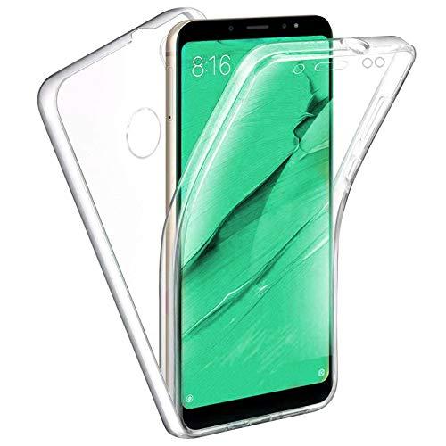 TBOC Cover per Xiaomi Redmi Note 5 - Redmi Note 5 PRO (5.99 ) - Custodia [Trasparente] Completa Copertura Integrale [Silicone TPU] Protezione Totale [360 Gradi] Full Body Anteriore Posteriore Sottile