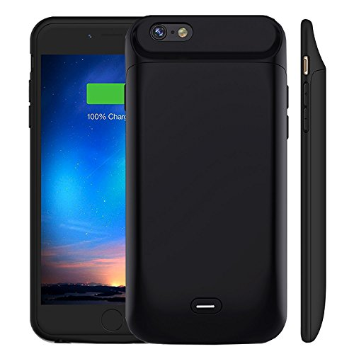 MAXBEAR iPhone 6 6S Battery Case [5000mAh], Rechargeable External Battery Portable Enhance Extended Power Charger Protective Charging Case for iPhone 6 6S (4.7 Inch)-Black